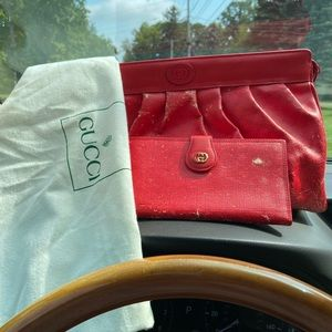 Red Gucci handbag 🎈